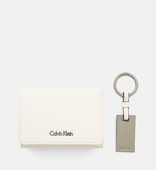 CALVINKLEIN Small Wallet and Keyring Giftbox - CEMENT - CALVIN KLEIN GIFTS - detail image 1