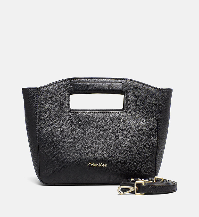 CALVINKLEIN Leather Mini Tote Bag - CEMENT - CALVIN KLEIN WOMEN - main image