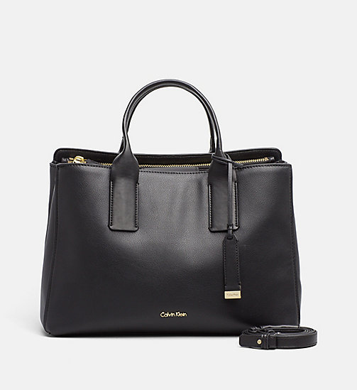 CALVINKLEIN Medium Tote Bag - BLACK - CALVIN KLEIN NEW IN - main image