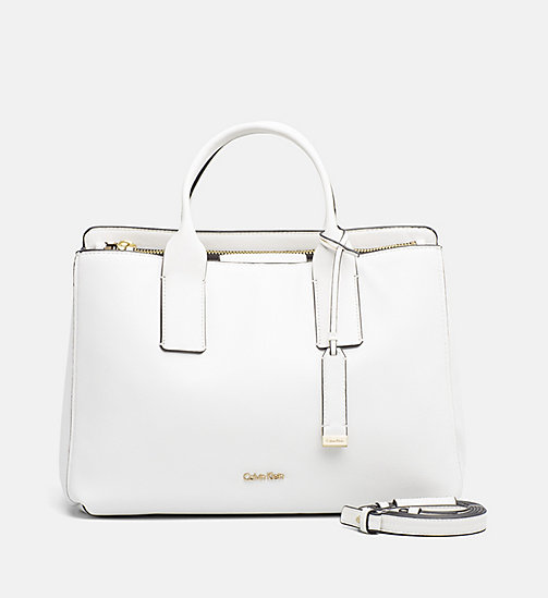 CALVINKLEIN Medium Tote Bag - WHITE - CALVIN KLEIN NEW IN - main image