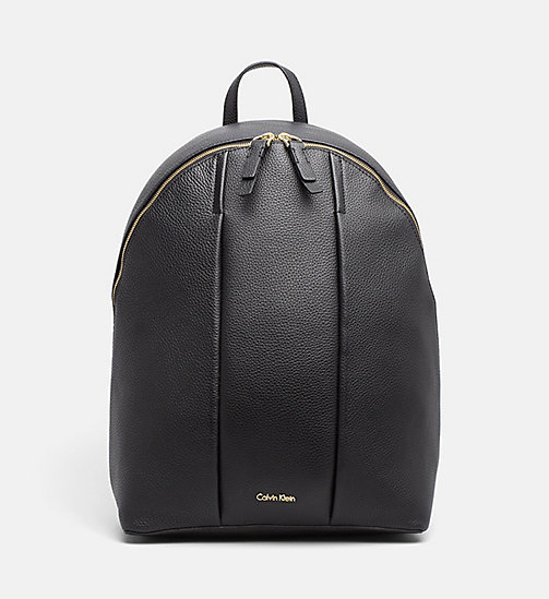 CALVINKLEIN Leather Round Backpack - BLACK - CALVIN KLEIN SHOES & ACCESSORIES - main image