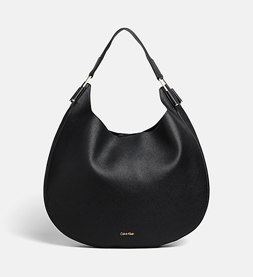 CALVINKLEIN Round Hobo - BLACK - CALVIN KLEIN NEW IN - main image