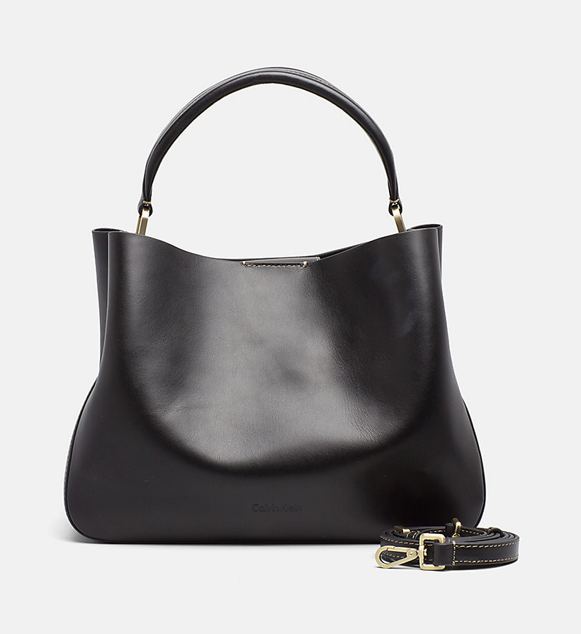 CALVINKLEIN Leather Tote Bag - CEMENT - CALVIN KLEIN WOMEN - main image