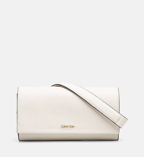 CALVINKLEIN Clutch on Chain - CEMENT - CALVIN KLEIN BAGS & ACCESSORIES - main image