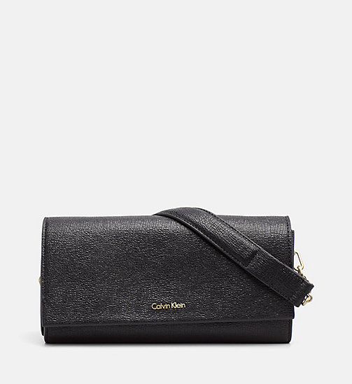 CALVINKLEIN Clutch on Chain - BLACK - CALVIN KLEIN BAGS & ACCESSORIES - main image