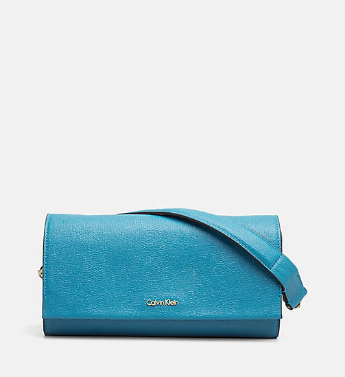 CALVINKLEIN Clutch on Chain - ENAMEL BLUE - CALVIN KLEIN CLUTCH BAGS - main image