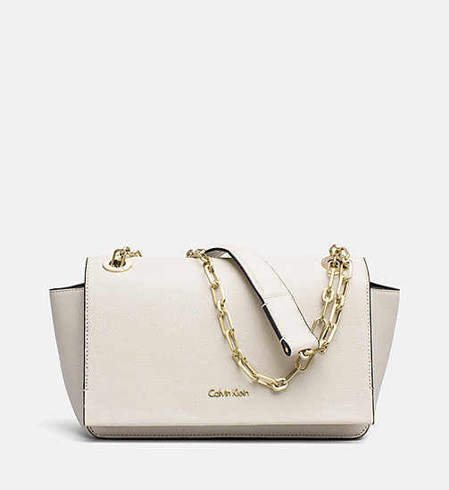 CALVINKLEIN Convertible Shoulder Bag - CEMENT - CALVIN KLEIN SHOES & ACCESSORIES - main image