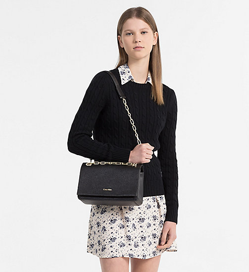 CALVINKLEIN Convertible Shoulder Bag - BLACK - CALVIN KLEIN NEW IN - detail image 1