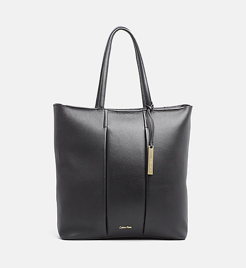 CALVINKLEIN Large LeatherTote Bag - BLACK - CALVIN KLEIN BAGS & ACCESSORIES - main image