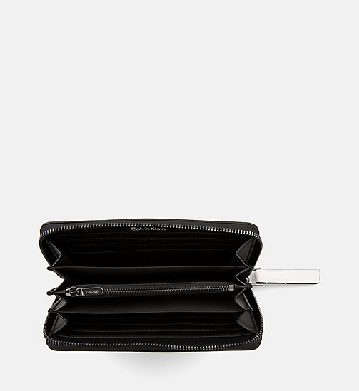 CALVINKLEIN Large Zip-Around Wallet - WHITE - CALVIN KLEIN WALLETS & SMALL ACCESSORIES - detail image 1