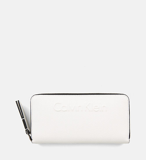 CALVINKLEIN Large Zip-Around Wallet - WHITE - CALVIN KLEIN WALLETS - main image