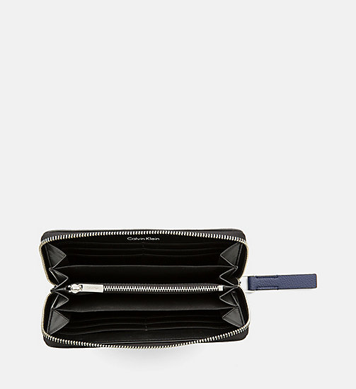 CALVINKLEIN Large Zip-Around Wallet - NAVY - CALVIN KLEIN FOR HER - detail image 1