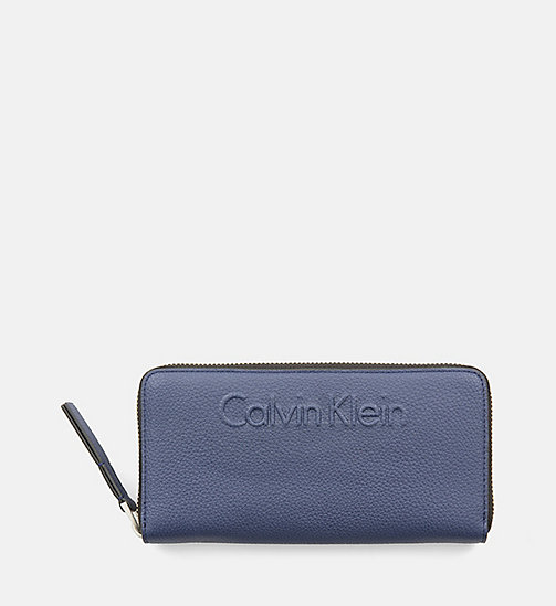 CALVINKLEIN Large Zip-Around Wallet - NAVY - CALVIN KLEIN FOR HER - main image