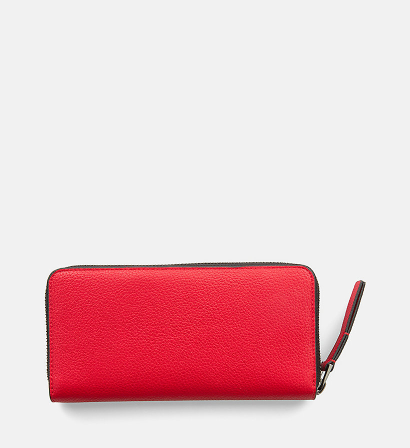 CALVINKLEIN Large Zip-Around Wallet - WHITE - CALVIN KLEIN WOMEN - detail image 2