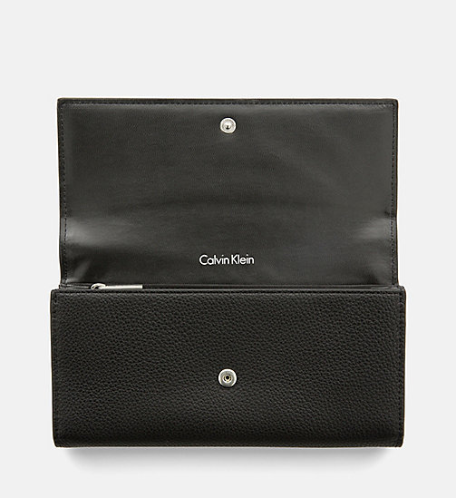 CALVINKLEIN Large Trifold Wallet - BLACK - CALVIN KLEIN SHOES & ACCESORIES - detail image 1