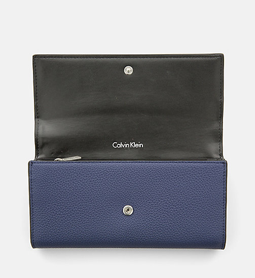 CALVINKLEIN Large Trifold Wallet - NAVY - CALVIN KLEIN PURSES & SMALL ACCESSORIES - detail image 1