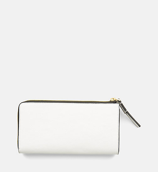 CALVINKLEIN Large Zip-Around Wallet - WHITE - CALVIN KLEIN SHOES & ACCESORIES - detail image 1