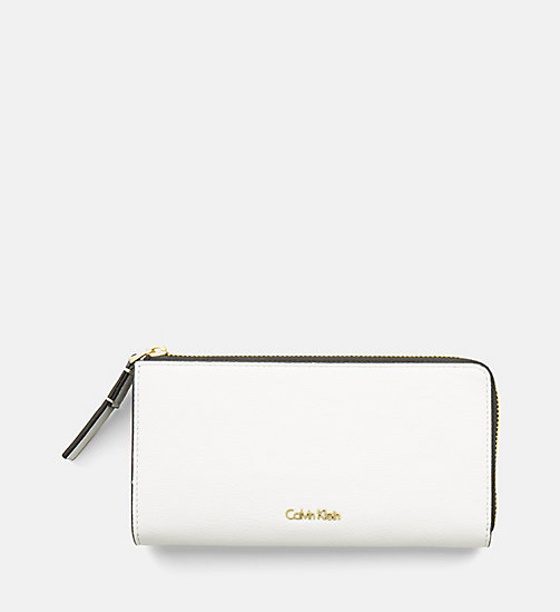 CALVINKLEIN Large Zip-Around Wallet - WHITE - CALVIN KLEIN SHOES & ACCESORIES - main image