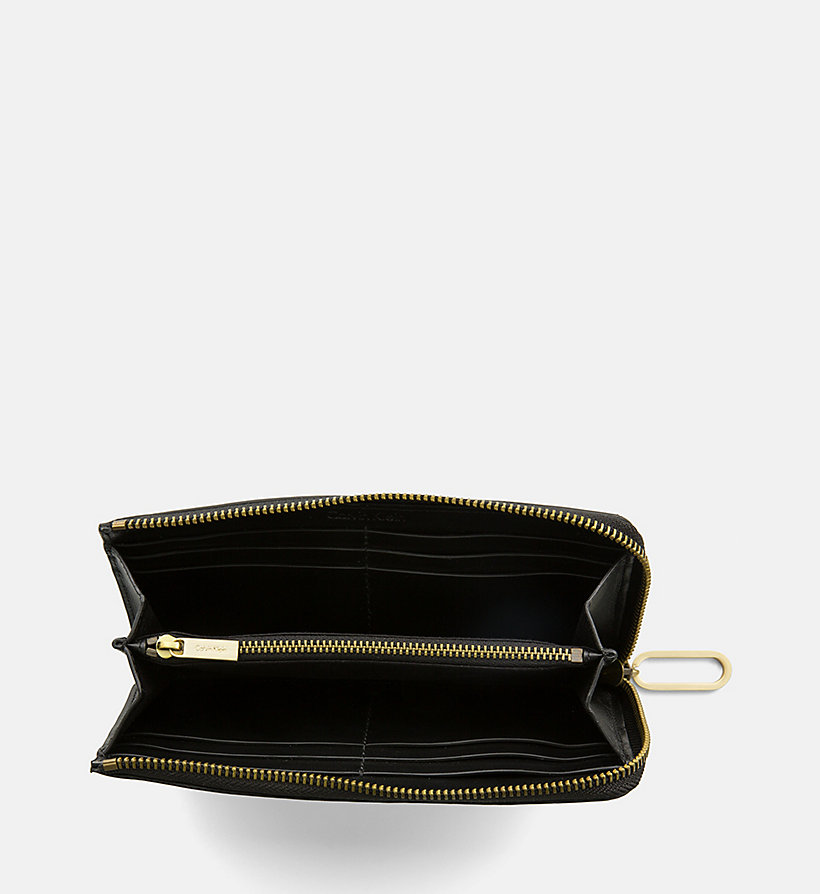 CALVINKLEIN Large Leather Zip-Around Wallet - TOAST - CALVIN KLEIN WOMEN - detail image 1