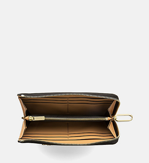 CALVINKLEIN Large Leather Zip-Around Wallet - TOAST - CALVIN KLEIN WALLETS & SMALL ACCESSORIES - detail image 1