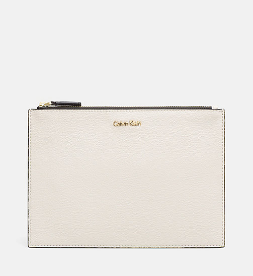 CALVINKLEIN Zip Pouch - CEMENT - CALVIN KLEIN MAKE UP BAGS - main image
