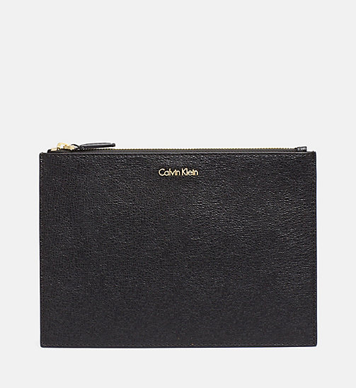 CALVINKLEIN Zip Pouch - BLACK - CALVIN KLEIN MAKE UP BAGS - main image
