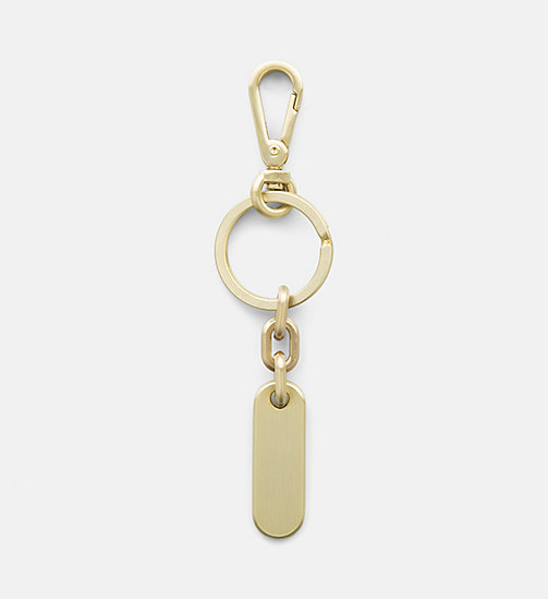 CALVINKLEIN Logo Keyring - SOFT BRUSHED BRONZE - CALVIN KLEIN NEW IN - detail image 1