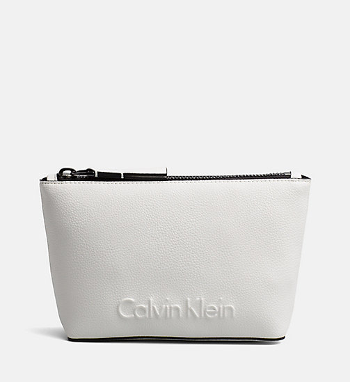 CALVINKLEIN Make-Up Bag - WHITE - CALVIN KLEIN NEW IN - main image