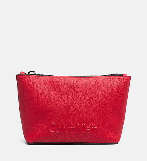 CALVINKLEIN Make-Up Bag - SCARLET - CALVIN KLEIN NEW IN - main image