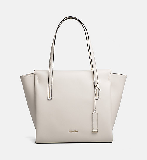 CALVINKLEIN Large Tote Bag - CEMENT - CALVIN KLEIN BAGS & ACCESSORIES - main image
