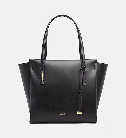 CALVINKLEIN Large Tote Bag - BLACK - CALVIN KLEIN BAGS & ACCESSORIES - main image
