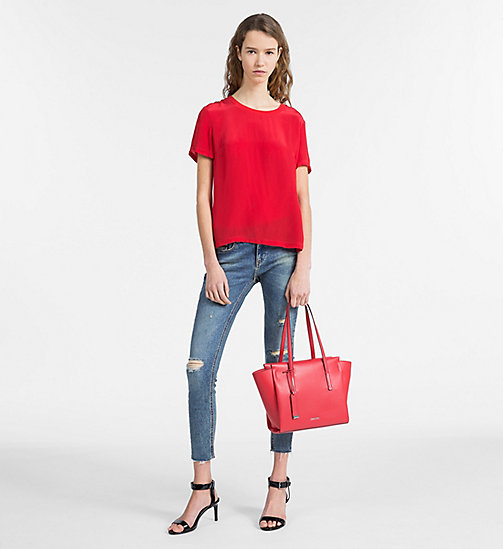 CALVINKLEIN Medium Tote Bag - SCARLET - CALVIN KLEIN NEW IN - detail image 1