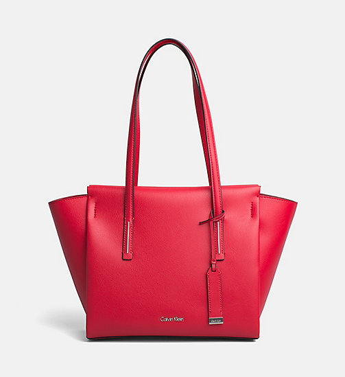 CALVINKLEIN Medium Tote Bag - SCARLET - CALVIN KLEIN NEW IN - main image