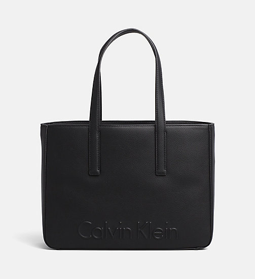 CALVINKLEIN Medium Tote Bag - BLACK -  NEW IN - main image