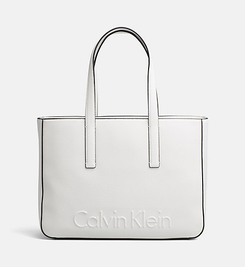 CALVINKLEIN Medium Tote Bag - WHITE - CALVIN KLEIN BAGS & ACCESSORIES - main image