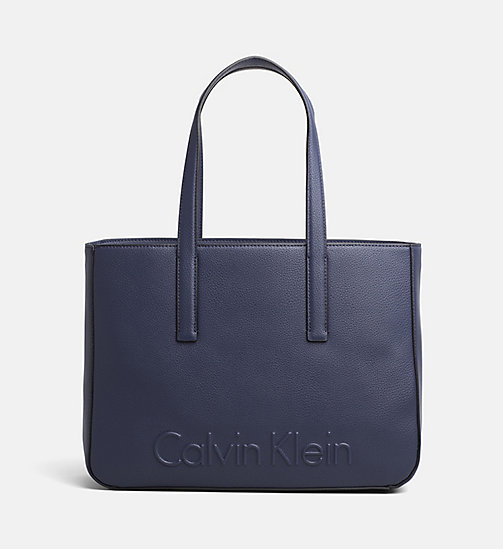 CALVINKLEIN Medium Tote Bag - NAVY - CALVIN KLEIN BLUES MASTER - main image