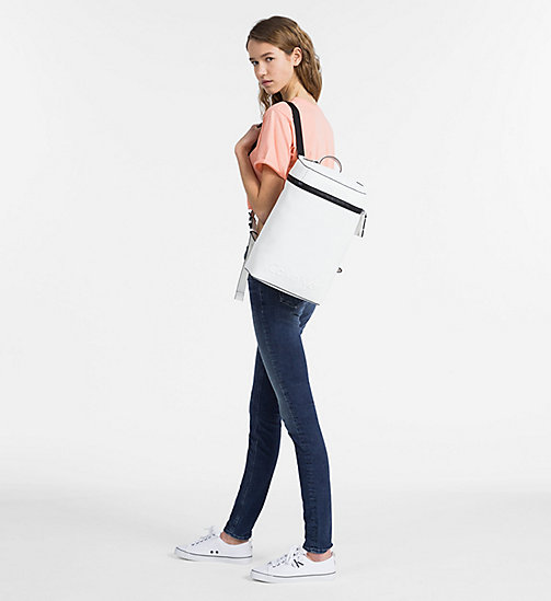 CALVINKLEIN Square Backpack - WHITE - CALVIN KLEIN BACKPACKS - detail image 1