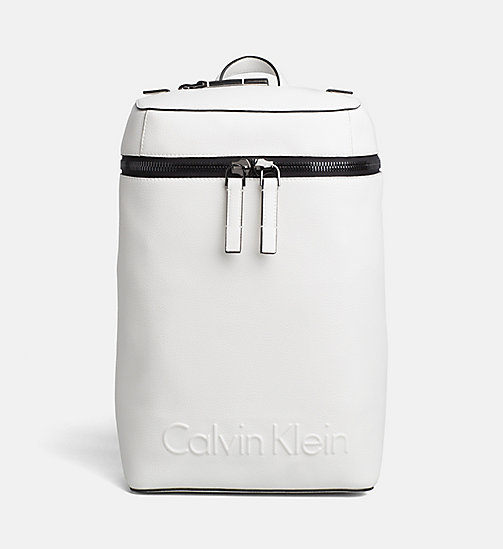 CALVINKLEIN Square Backpack - WHITE - CALVIN KLEIN BACKPACKS - main image