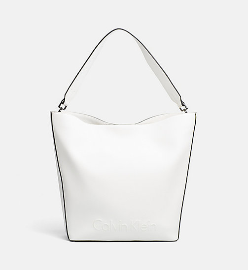 CALVINKLEIN Large Hobo - WHITE - CALVIN KLEIN BAGS & ACCESSORIES - main image