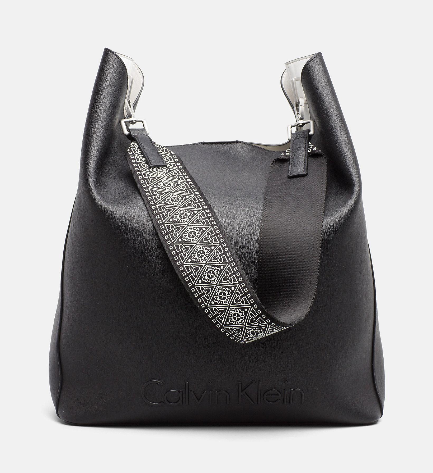 Calvin Klein EDGE SEASONAL LARGE - Shopping Bag - black tZwmpyXAna