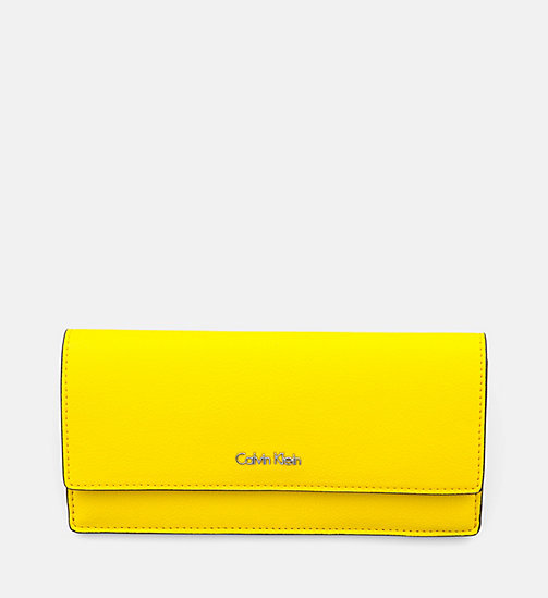 CALVINKLEIN Slim Trifold Wallet - SUNFLOWER - CALVIN KLEIN WALLETS - main image