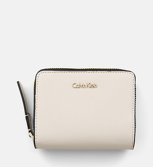 CALVINKLEIN Zip-Around Flap Wallet - CEMENT - CALVIN KLEIN WALLETS & SMALL ACCESSORIES - main image