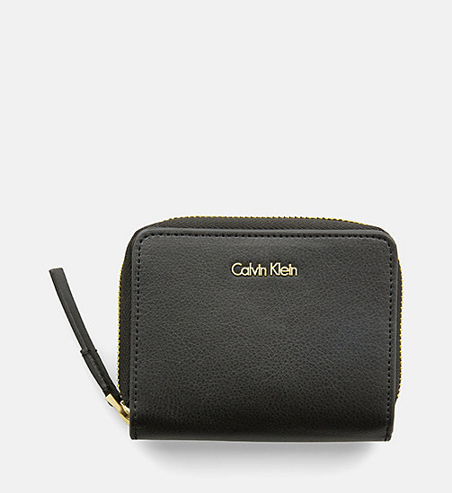 CALVINKLEIN Zip-Around Flap Wallet - BLACK - CALVIN KLEIN WALLETS - main image