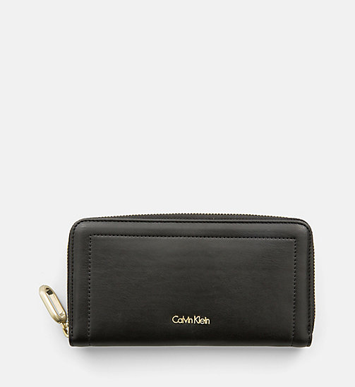 CALVINKLEIN Large Zip-Around Wallet - BLACK - CALVIN KLEIN WALLETS & SMALL ACCESSORIES - main image