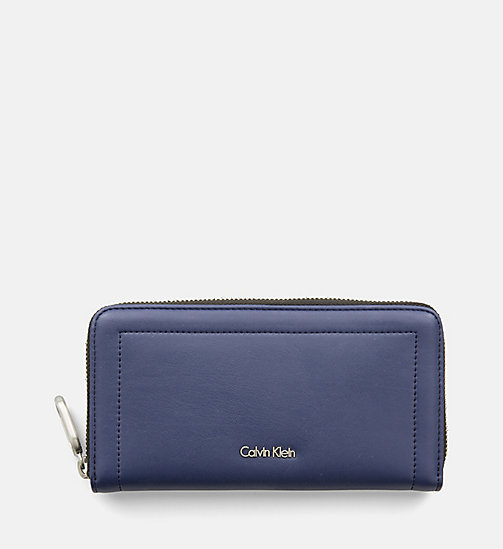 CALVINKLEIN Large Zip-Around Wallet - NAVY - CALVIN KLEIN SHOES & ACCESORIES - main image