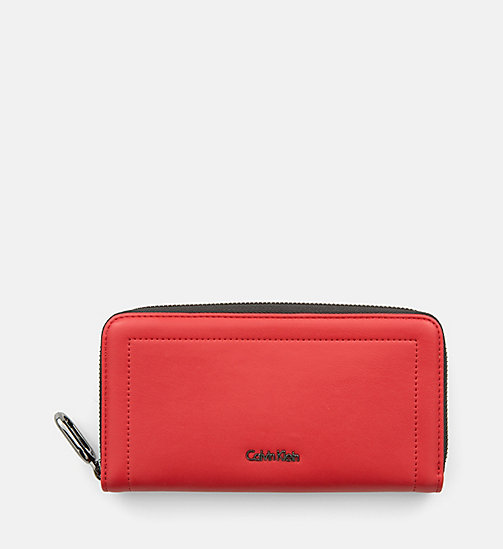 CALVINKLEIN Large Zip-Around Wallet - SCARLET - CALVIN KLEIN SHOES & ACCESORIES - main image