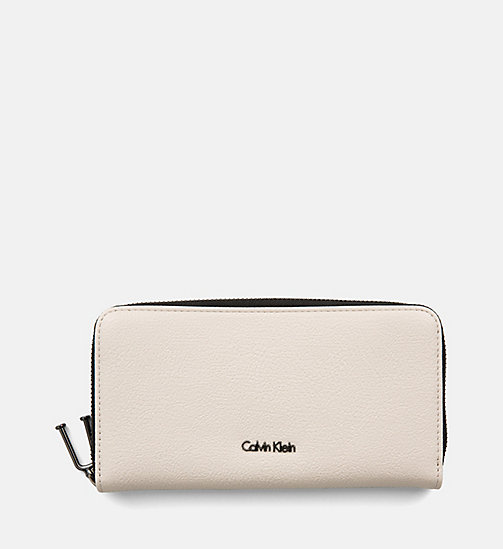 CALVINKLEIN Large Zip-Around Wallet - CEMENT - CALVIN KLEIN WALLETS & SMALL ACCESSORIES - main image