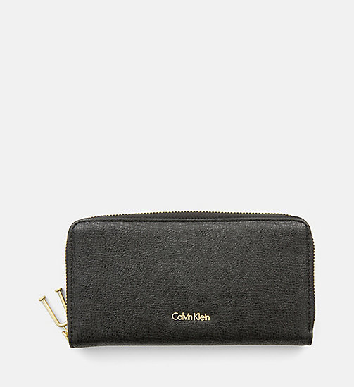 CALVINKLEIN Large Zip-Around Wallet - BLACK - CALVIN KLEIN SHOES & ACCESORIES - main image