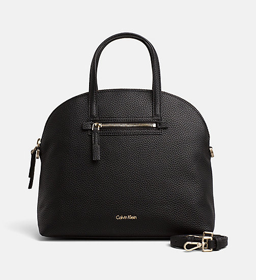 CALVINKLEIN Medium Satchel - BLACK - CALVIN KLEIN SHOES & ACCESORIES - main image