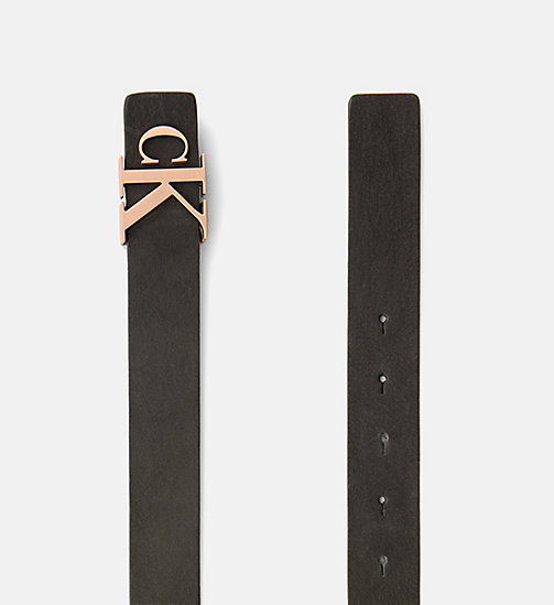 CALVIN KLEIN JEANS Leather Belt - BLACK -  BELTS - detail image 1